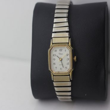 Stainless steel Timex Quarts watch.