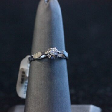 Beautiful 14k white gold diamond ring.